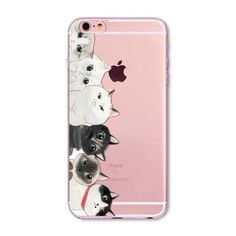 New Year Gifts Cute Cats Hamster Animals Case For iphone 6 6s 7 Plus 6Plus 5 5s SE 4 4s 5C Soft Silicone Back Cover Case