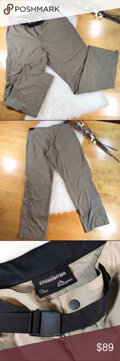 Crossterrain Macpac Trekker Pants! Sz XL Crossterrain Macpac Trekker Pants! • From New Zealand! •EUC! •Lightweight for sports or hiking •Hidden zipper with breathable fabric • Belt for adjustable comfort & fit Crossterrain Pants Cargo
