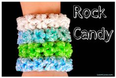 Rock candy loom bracelet by LoomLove | Cool Mom Picks