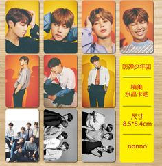 New kpop BTS Bangtan Boys nonno The Same Exquisite crystal card stickers 10 pieces  #Affiliate