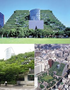 This Japanese green roof sits on a massive building containing offices, retail space, a theater and a museum. The roof itself features over 30,000 plants of over 70 different species and brings usable green space to a dense urban core.