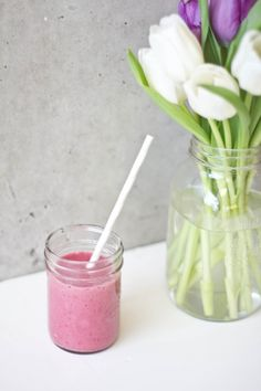 """Diarrhea Fighting Smoothie for Toddlers Recipe - 1 banana, 1/2 cup frozen raspberries, 1 cup of cooked white rice – cooked in coconut almond milk, 2 tbsp hemp seeds, 1 cup of coconut almond milk - """"Seriously this stuff was magic.  If you have a little who struggles with diarrhea try this, its the best way to get all those binding agents into one yummy snack."""""""
