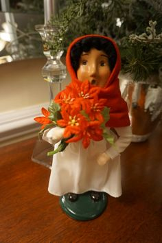 Byers' Choice Girl with Flowers