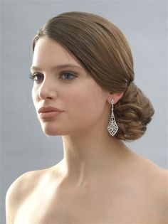 Stunning Wedding Chandelier Earrings | Pearl Bridal Earrings by USABride.