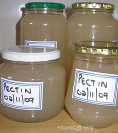 home-made pectin for jellies, with a by-product treat of apple sauce!