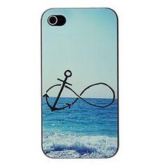 Anker en Beach Patroon PC Hard Case voor iPhone 4/4S – USD $ 2.99