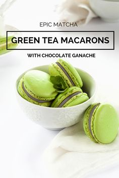 Epic Matcha Green Tea Macarons with Chocolate Ganache Recipe. Macarons are French cookies that are just as delicious as they are beautiful. Click to site to view recipe.