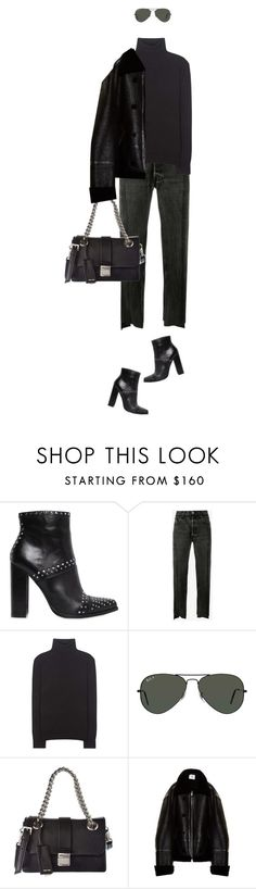 """""""#womensfashion do it in all black for your #fallintowinterstyle ."""" by fashionablychicny ❤ liked on Polyvore featuring Windsor Smith, Vetements, Polo Ralph Lauren, Ray-Ban and Miu Miu"""