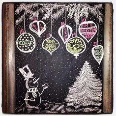 December Winter Wonderland Chalkboard