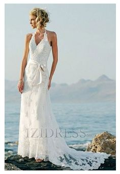 A-Line Princess Trumpet/Mermaid Sheath/Column Halter Tulle A-Line Wedding Dress