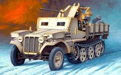 SdKfz 10/5 with armored cabin