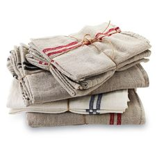 Couleur Nature's Caravan linen napkins and tea towels