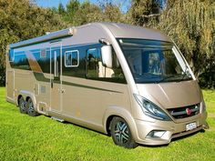 How do we choose the best motorhome to buy? Usually it comes down to a point of difference that for us makes the one we choose stand out from the rest. Reviewing the Bürstner Elegance i840G, I wondered which feature would be the tipping point.  The exterior colour on the Elegance reviewed is 'opale', an attractive dark champagne tone, with black panels surrounding the windows – understated and elegant.   For more information check our website by clicking the link