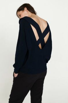Magda Back Strap Knit - Nude Lucy | Picpoket