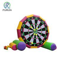 Popular inflatable golf dart boards, soccer darts inflatable sport games