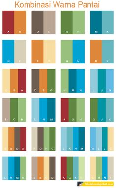 Beach Color Schemes Combinations Palettes For Print Cmyk And Web Rgb Html