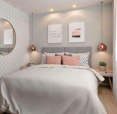 20 inspirations pour aménager et décorer toutes les petites chambres Dream Rooms, Dream Bedroom, Bedroom Apartment, Home Decor Bedroom, Apartment Ideas, White Bedroom Decor, Warm Bedroom, Bedroom Art, Bedroom Themes