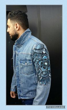 Hand painted tattoo sleeve inpired designs on denim jackets. These jackets are made to order- personalised with names, slogans or Initials. Please message to enquire on design and sizes. Thank you