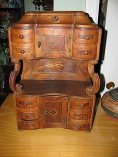 RARE~~Walnut Victorian Store Salesman Sample Childs Bed with ...