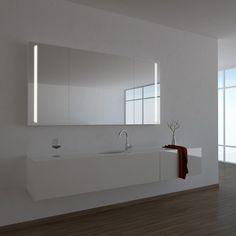 Spiegelschrank Ogrel hier bei badspiegel.org kaufen ☆ genügend Stauraum ☆ elegant ☆ qualitativ hochwertig ✓ nach Maß ✓ Made in Germany ►Jetzt kaufen!