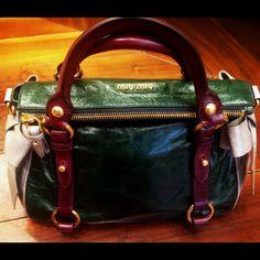 Next season Limited edition bag from MIU MIU at their showroom in NY