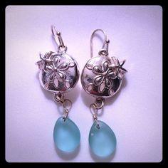 Sand Dollar Drop Earrings Pretty earrings! Jewelry Earrings