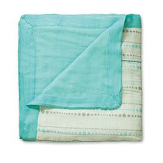 Aden & Anais Bamboo Dream Blanket - Azure http://gilmourspharmacy.co.nz/collections/gifts-baby/aden-and-anais