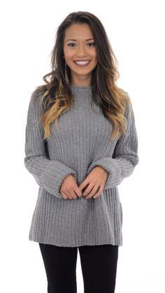 Audrey Sweater, Grey :: NEW ARRIVALS :: The Blue Door Boutique