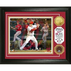 Bryce Harper inTriple Playin Game Used Dirt Coin Photo Mint