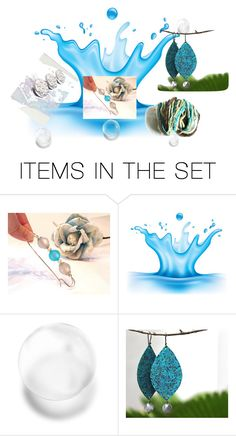 Colors of the sea by ladyknitty on Polyvore featuring arte #SpecialTweek