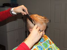 I am going to give you a step by step on how to cut boys hair the professional way (not just a clipper cut). I have been a Cosmetologist fo...