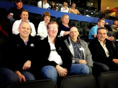 Fathers of Tyler Ennis, Tyler Myers & Drew Stafford are here along w/ Marcus Foligno's uncle! (L-R) from Buffalo Sabres