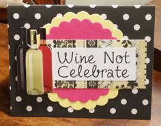 Wine Lovers Greeting Card Birthday Engagement Anniversary By PaperTechie
