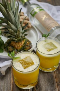 Make a Spicy Pineapple Coconut Cocktail with this coconut water drink recipe.