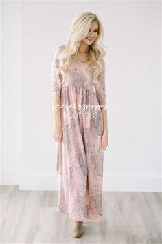 THE LYLA PINK PAISLEY MAXI DRESS