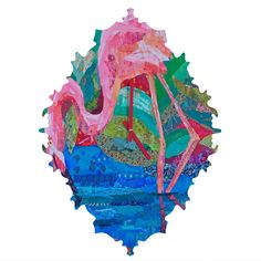 Elizabeth St Hilaire Nelson Flamingo 2 Baroque Clock | DENY Designs Home Accessories