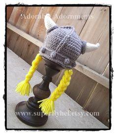 Viking Viking Helm Viking Hut Gehäkelte Wikinger von superflyhel
