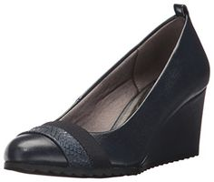 LifeStride Womens Parigi Wedge Pump Lux Navy 85 M US ** Check this awesome product by going to the link at the image. (This is an affiliate link) Wedge Pump, Pumps Heels, Wedges, Navy, Store, Awesome, Link, Check, Image