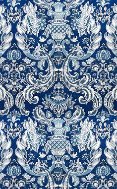 blue tones wall paper for home Print Wallpaper, Home Wallpaper, Pattern Wallpaper, Fabric Wallpaper, Textile Patterns, Textile Prints, Print Patterns, Textiles, Baroque Pattern