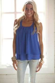 Modern Vintage Boutique - Bring The Party Top Royal Blue CLEARANCE, $24.00 (http://www.modernvintageboutique.com/bring-the-party-top-royal-blue-clearance.html)