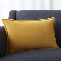 """Brenner Yellow 18""""x12"""" Pillow with Down-Alternative Insert"""