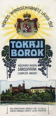 Vintage Hungarian Advertisement - Tokaji wines 1907 by takacsi75, via Flickr Vintage Wine, Vintage Ads, Vintage Posters, Hungarian Cuisine, Hungarian Recipes, Retro Ads, Vintage Advertisements, Spirit Drink, Wine Poster