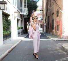 pastel pink jumpsuit
