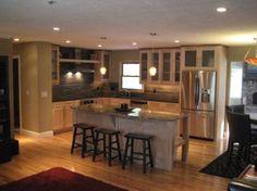 raised ranch style: Style, Kitchen