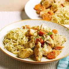 Chicken with Parmesan Noodles