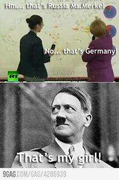 Angela Merkel and geography: Lebensraum.