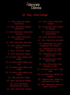 TVD 30 day challenge :)