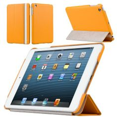 Labato Smart Cover Premium Leather Cases for iPad Mini Apple Book Fold Standing+4Segment Design Auto Awake&Sleep Include Fully Protective 4Colors Available for iPad mini Tablet Sleeve Orange Color Lbt-IDM-03H80 Labato,http://www.amazon.com/dp/B00E3PKPNU/ref=cm_sw_r_pi_dp_ldh8sb18H7NBJ99Y