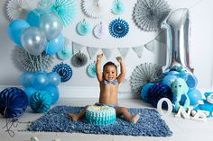 Connor   Cape Town baby cake smash photographer » Cape Town Newborn Photographer   Faye Turnbull Photography