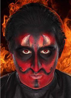 Pix For > Devil Makeup For Men